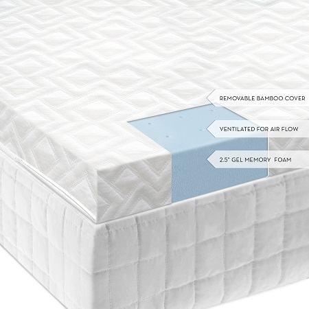 Maloof Premium Gel Infused Ventilated Memory Foam w Bamboo